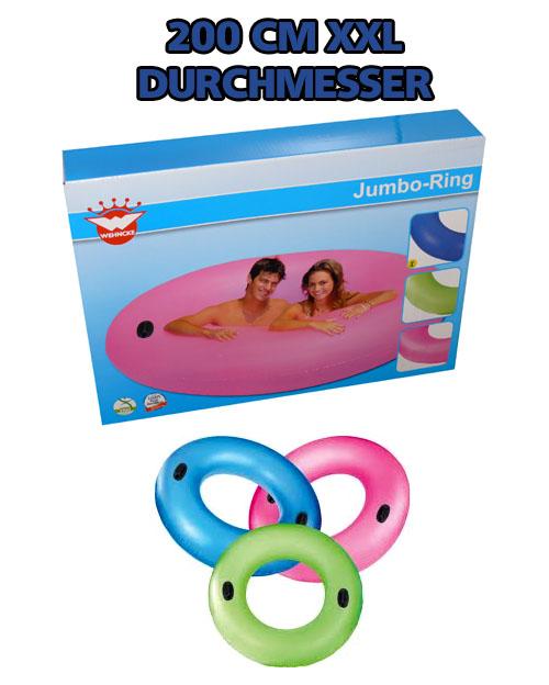 wehncke jumbo xxl schwimmring schwimmreifen 200cm f r bis zu 2 erwachsene neu ebay. Black Bedroom Furniture Sets. Home Design Ideas