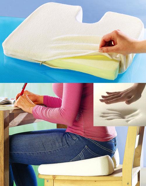 orthop disches keilkissen sitzkissen sitzkeil sitzerh hung viskoelastisch neu ebay. Black Bedroom Furniture Sets. Home Design Ideas
