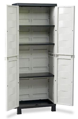 kunststoffschrank haushaltsschrank schrank gartenschrank werkstattschrank toomax ebay. Black Bedroom Furniture Sets. Home Design Ideas